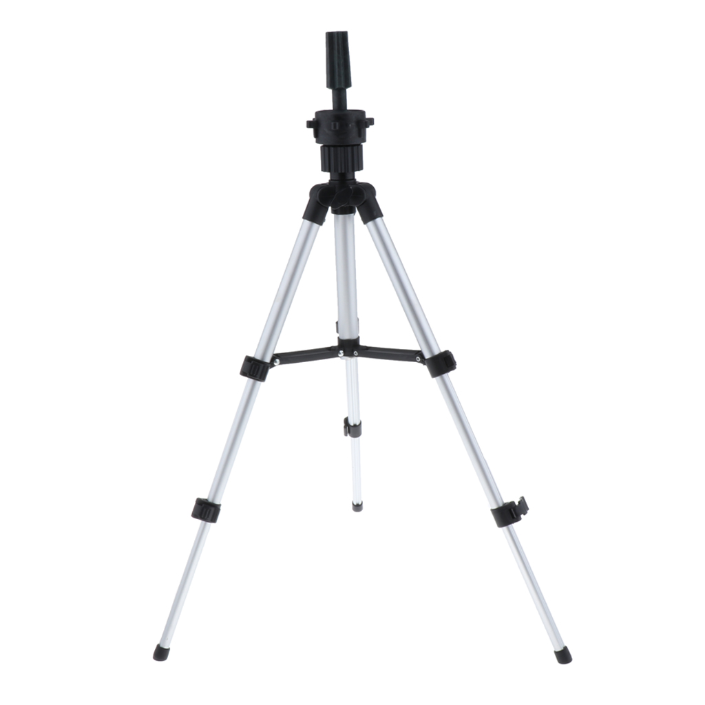 Adjustable Mannequin Tripod Stand For Wig Display Making, Aluminum Travel Foldable Hairdressing Head Holder Stand
