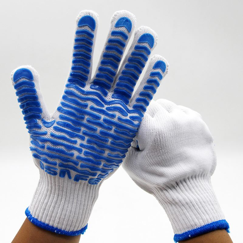 Working Safety Glove Labor Security Protective Gloves Non-slip PVC Rubber Gloves Insurance Garden Workplace Safety Supplies