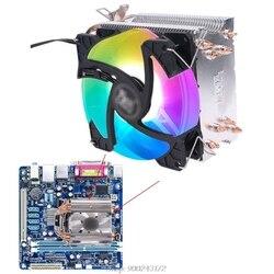 Радиатор ЦП Coler 4 тепловые трубы охлаждающий вентилятор 90 мм радиатор для разъема AMD AM4 AM3 и Intel775 1150 1151 1155 D17 20 Прямая поставка