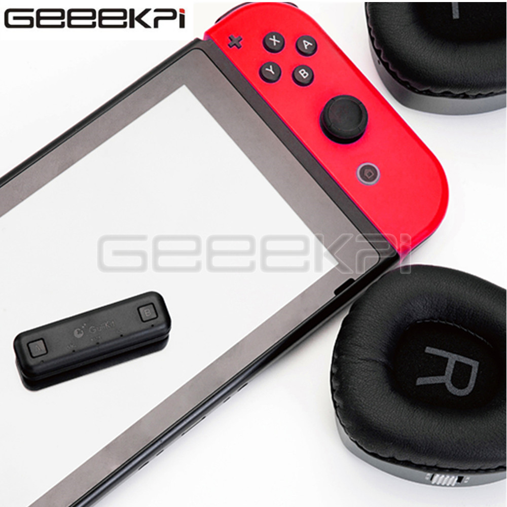 GeeekPi GuliKit NS07 Type-C Wireless Bluetooth Audio USB Transmitter Adapter Transceiver For Nintendo Switch ( Lite ) / PS4 / PC
