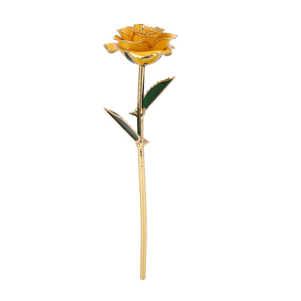 Искусственное растение розы подарок Цветочный декор эмуляционный цветок 10 цветов Золотая фольга реквизит фестиваль ресторан отель орнамент - Цвет: Yellow
