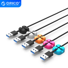 Orico Cbsx Kawat Organizer Desktop Klip Cord Kabel Winder Manajemen Kabel Headphone untuk iPhone Pengisian Data Line(China)