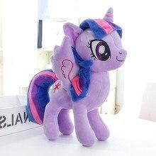 Плюшевые куклы, чучела животных Лошадь Фиолетовый Принцесса Единорог детские игрушки отличный подарок