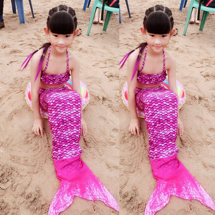 Clothing Halloween Clothing KID'S Swimwear Mermaid Swimsuit Girls' Two-piece Swimsuit BABY'S Swimsuit