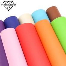 20X30 см одноцветная искусственная Синтетическая Кожа Личи узор искусственная ткань для бантов Сумка Обувь лоскутный материал DIY ремесла