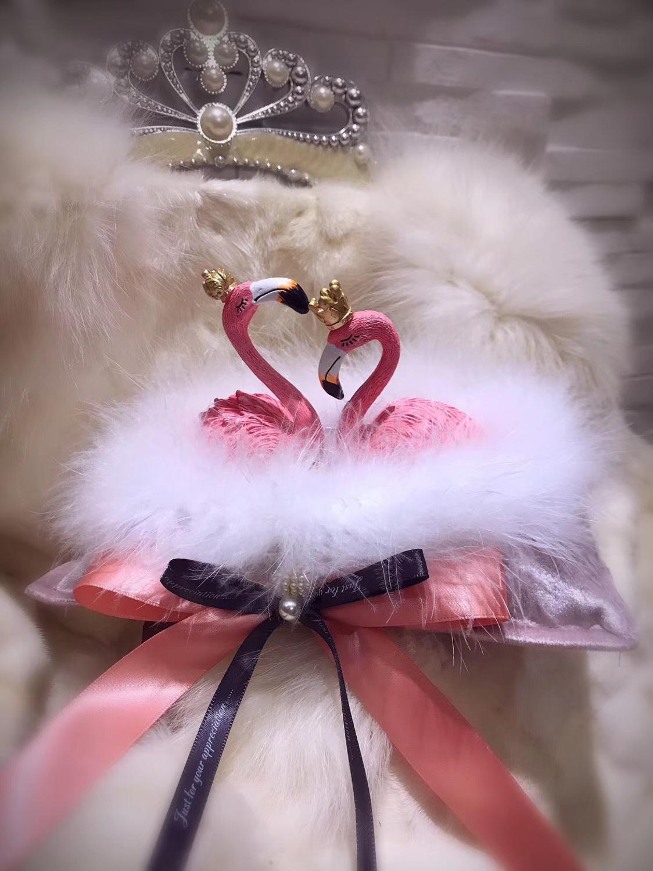 Автомобильные аксессуары интерьера Фламинго орнамент для любви автомобиля освежитель воздуха ароматерапия бамбуковый уголь сушеные Цветочные украшения автомобиля