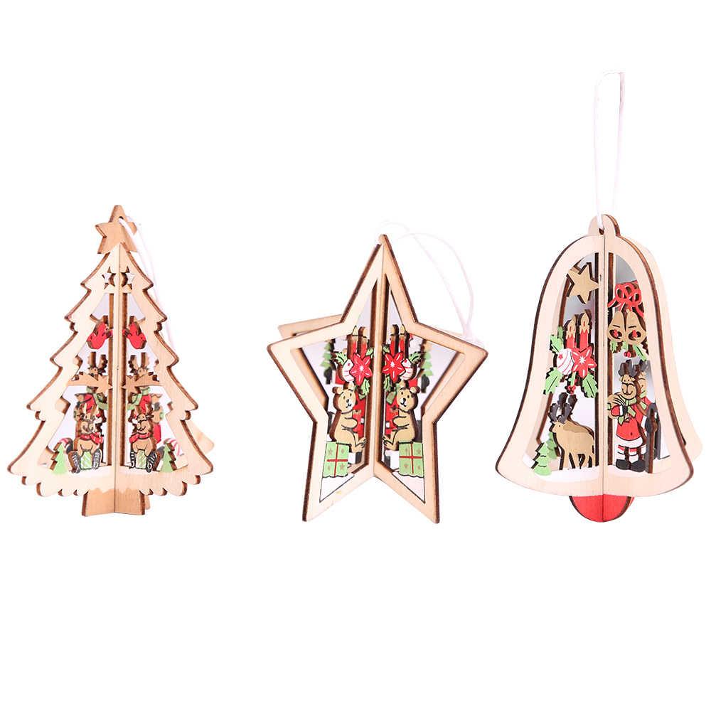 Ornamente Für Die Weihnachten Baum Holz Dekoration Für Weihnachten Baum Neue Jahr Geschenke Weihnachten Dekor Für Home