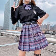 Été femmes jupes 2020 taille haute Style coréen jupes plissées pour les filles mignon doux dames Plaid Mini jupe femmes