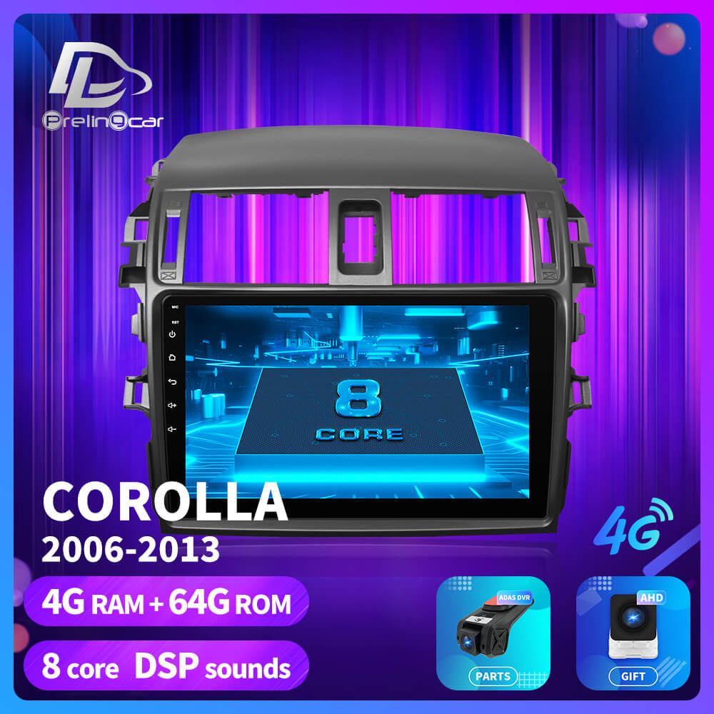 prelingcar For <font><b>Toyota</b></font> <font><b>Corolla</b></font> 2008 2013 <font><b>E150</b></font> 140 android Car GPS Radio Multimedia no 2 din android Video Player Navigatio image