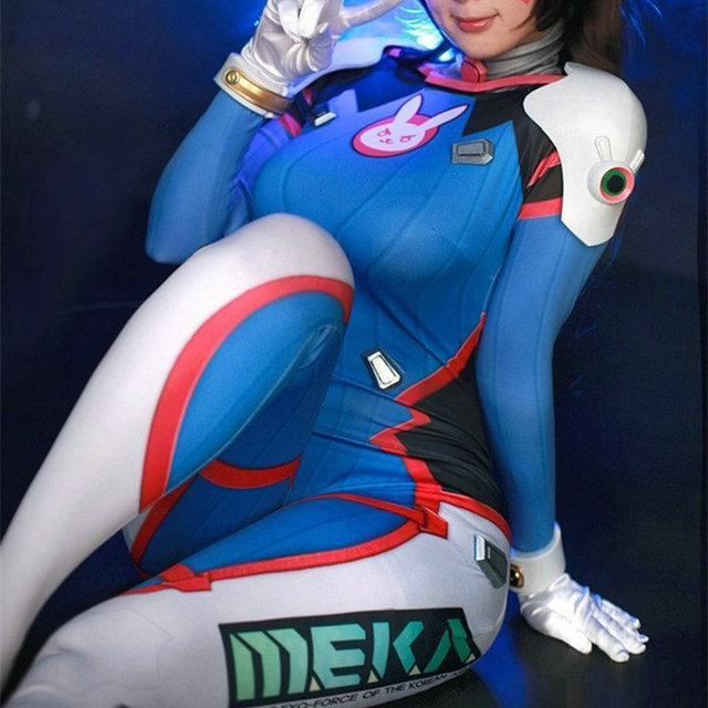 Dva Cosplay Costume Game Female Adult Child Lycra 3D Printing Spandex Halloween for Women Party Zentai Suits D.Va Anime Cosplay 5