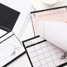 Book Weekly Planner Tear-The-Notebook Desktop Schedule-Month Work-Efficiency Simple 30-Sheet