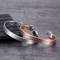 Магнитный браслет Vinterly Infinit из чистой меди, Регулируемый Браслет-манжета, медные браслеты для здоровья, браслеты для артрита