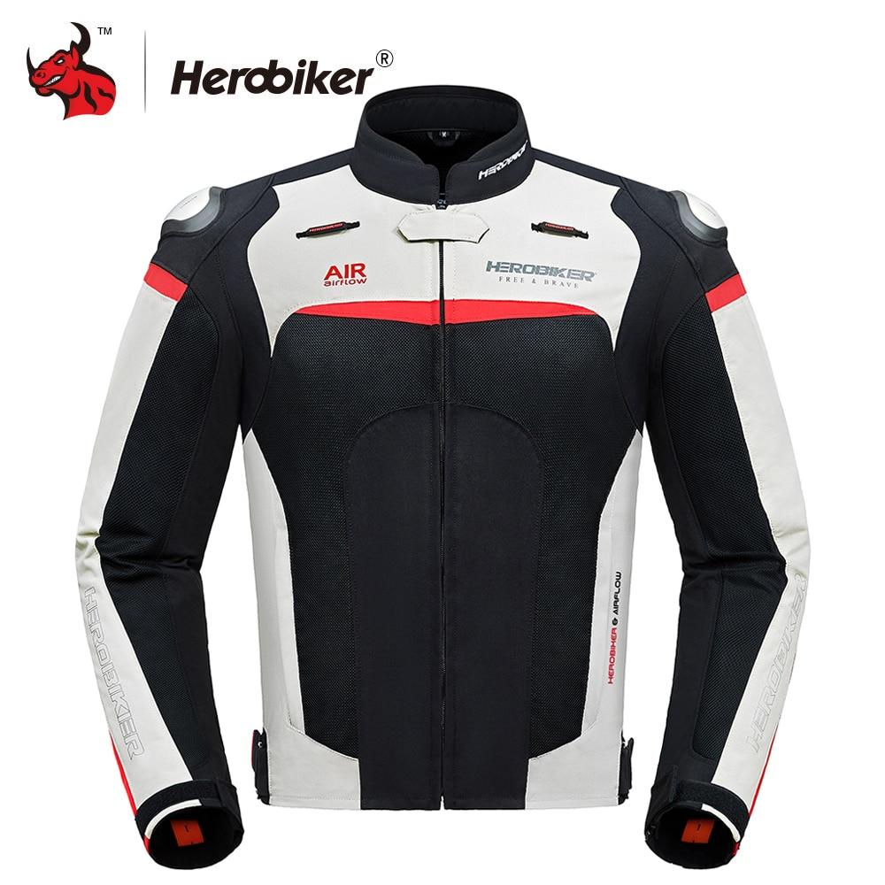 HEROBIKER automne hiver veste de Moto équipement de Protection hommes Moto Motocross hors route veste de course Moto Protection