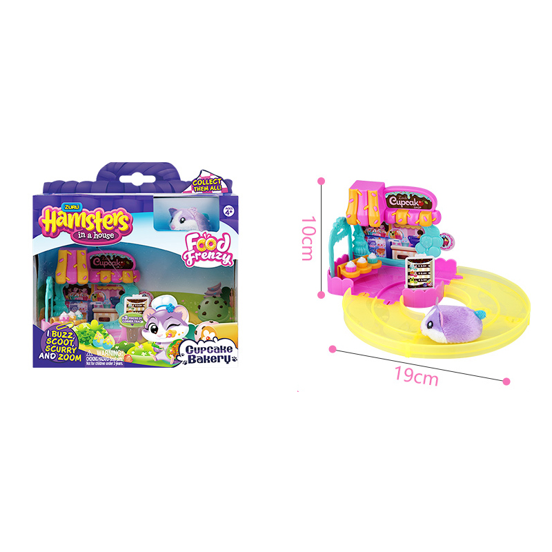 Hamsters in the Series 2 Mini cake shop Bakery Food Frenzy Hamster with Accessories Toys Birthday Surprise Kids Gift 6