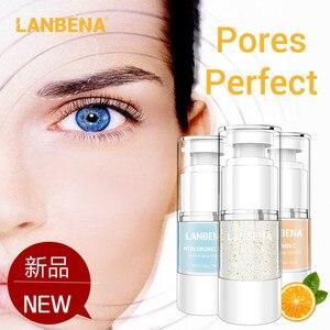 Lanbena primer soro facial base de maquiagem essência encolher poros hidratante maquiagem primer iluminar fundação cosméticos cuidados com a pele
