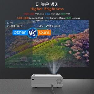 Image 3 - AUN MINI projektor LED D60, rozdzielczość 1280x720P, przenośne kino domowe, wideo 3D Beamer, opcjonalnie Android WIFI D60S, dekodowanie 1080P