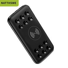 NATTHSWE Wireless Charging Ultra-thin 20000mAh Capacity Mobile Power Bank Suction Cup Type Portable External Battery universal ultra thin 20000mah portable solar power bank with led light external phone charging battery with compass powerbank