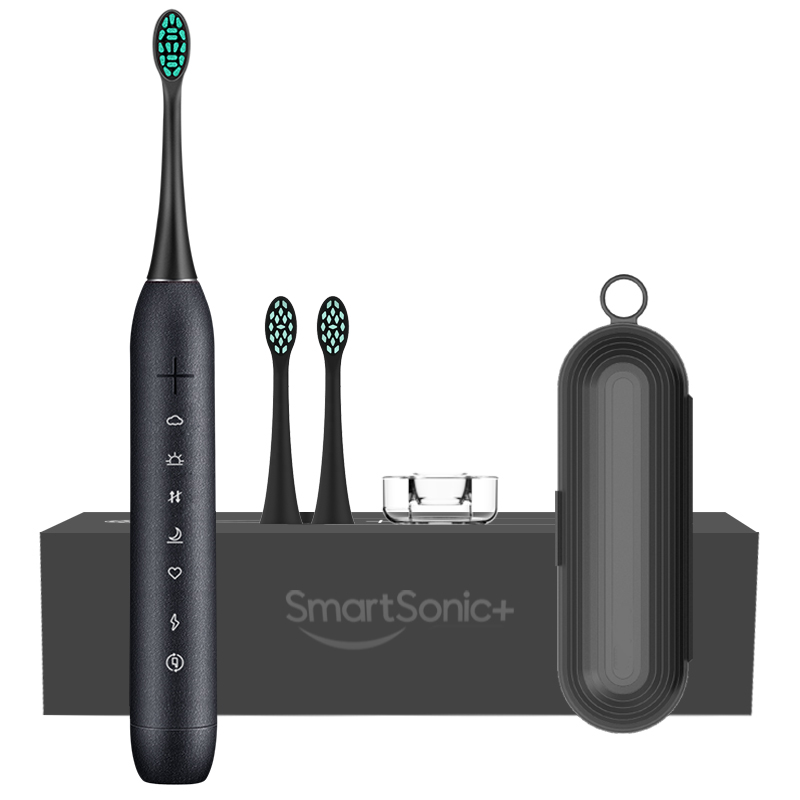 SmartSonic T6 Upgrade Sonic Electric Tooth Brush Ultrasonic Automatic Chargeable Adult Waterproof IPX7 With 2 Brush Heads