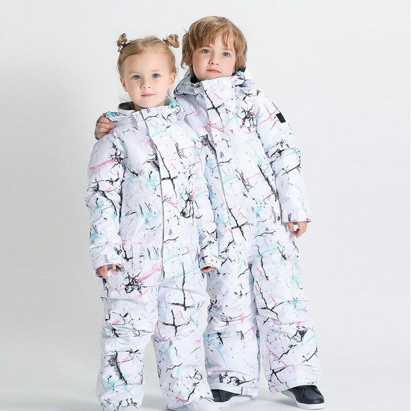 SMN/новый модный детский комбинезон, лыжная одежда, зимний костюм для мальчиков и девочек, одежда для сноуборда, 10 k, ветрозащитный водонепрон...