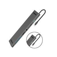 10 in 1 Typ C zu USB 3.0 TF HDMI VGA RJ45 Mini DP Hub Adapter Laptop Docking Station Für macBook Air/MacBook Pro Samsung Huawei|Laptop-Docking-Stationen|Computer und Büro -