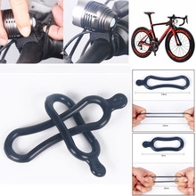 2pcs Rubber Band PVC Rings For T6 LED Headlight Bike Headlamp Bicycle Rubber Rings Bike Accessories #ZH tanie tanio ISHOWTIENDA AS SHOW Rama Baterii bike light bicycle light bike lights rear bike light cycling light bike reflector bicycle valve light