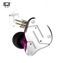 KZ ZSN auriculares internos híbridos 1BA + 1DD, auriculares HIFI con Monitor para DJ, auriculares para correr, Cable desmontable de 2 pines, KZ BA10