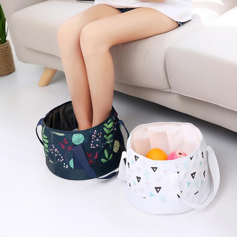 Portable Foldable Washbasin Travel Outdoor Foam Bag Laundry Basin Washbasin Wash Foot Bucket Tarpaulin Bag Travel accessories