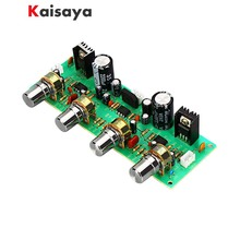 2.0 NE4558 Dual AC 12 15 przedwzmacniacz Audio Treble Bass Balance regulowany przedwzmacniacz Audio gotowa płyta z kontrola dźwięku A7 017