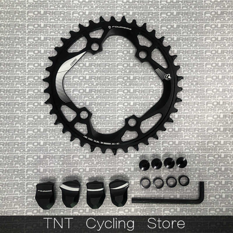 FOURIERS Oval Mountain Bike Chainring MTB for Shimano XTR M9000 M9020 42T Black