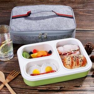 Image 1 - Szczelne pudełko na lunch oddzielne przedziały, w których można szkolne dla dzieci pojemnik bento pojemnik na jedzenie stołowe naczynia mikrofalowe pudełko na lunch dla dzieci