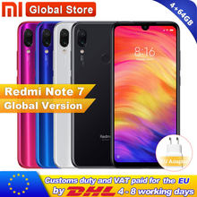 Version mondiale Xiaomi Redmi Note 7 4GB 64GB Smartphone Snapdragon 660 Octa Core 4000mAh 2340x1080 48MP double caméra téléphone portable(China)