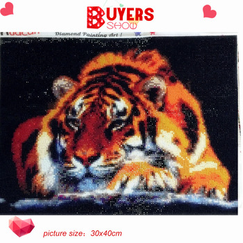 HUACAN 5D Diamond Painting Animal Tiger Full Square Rhinestone Picture Embroidery Sale Diamond Mosaic Home