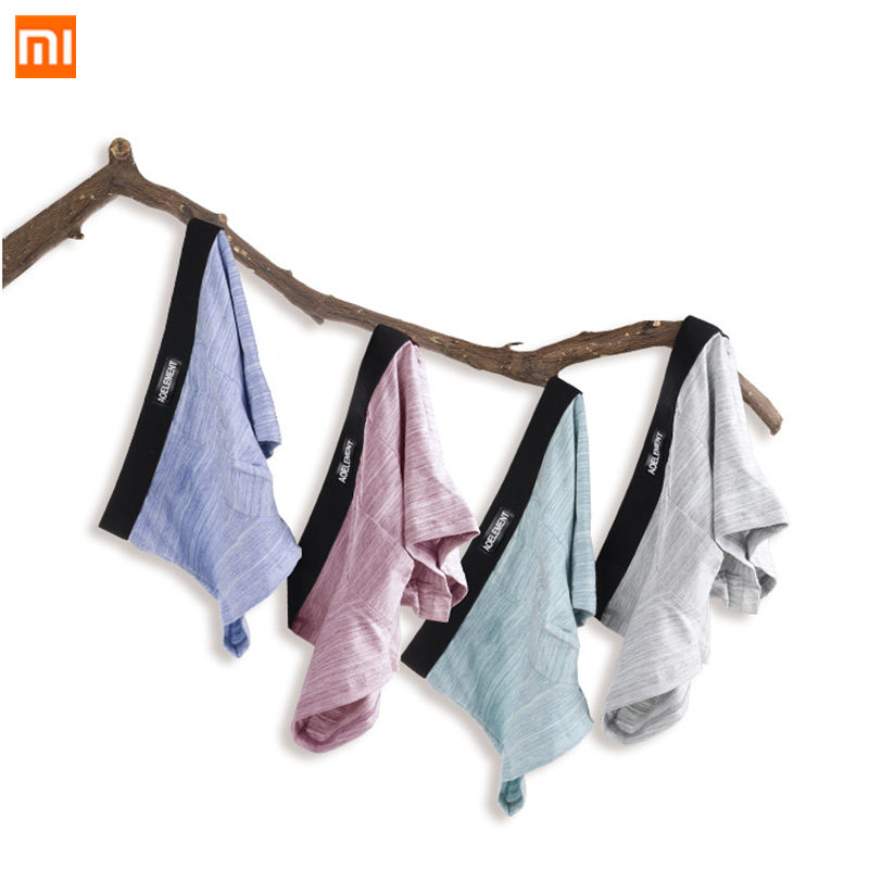 4pcs/set Xiaomi Mijia Men's Cotton Panties U-convex Leak-proof Soft Boxer Breathable Comfortable Men Sweat-absorbent Underwear