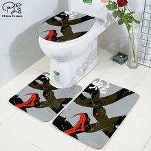 Мультяшный Забавный Змеиный 3d Печатный коврик для ванной комнаты