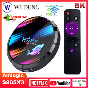 H96 MAX X3 Smart TV Box Amlogic S905X3 Android 9.0 4G 128G 2.4G i 5G podwójny Wifi BT4.0 1000M 8K zestaw odtwarzacza multimedialnego top Box H96 MAX