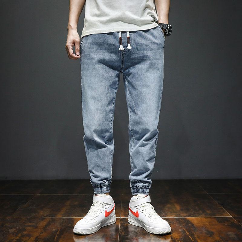 Fashion Streetwear Men Jeans Large Size M-7XL Printed Designer Denim Cargo Pants Slack Bottom Joggers Pants Hip Hop Jeans Men