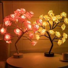 Светодиодный ночник Роза светильник s Рождество на открытом