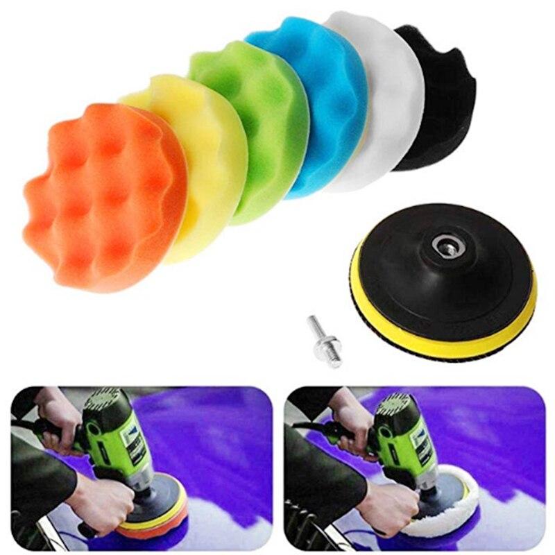 100mm Polishing Pad Kit Buffing Woolen&Sponge Pads For Car Care Polisher Waxing Polishing 9Pcs/Set