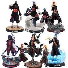 NARUTOS Shippuden Model postaci z Anime Akatsuki Uchiha Itachi Obito Madara Sasuke Hidan Konan ból Kakashi figurka kolekcjonerska zabawka