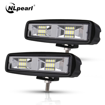 Nlpearl Car Light Assembly Led Fog Lights off road 4x4 48W Spot Beam Led Light Bar For Trucks Jeep ATV SUV DRL LED Spotlight