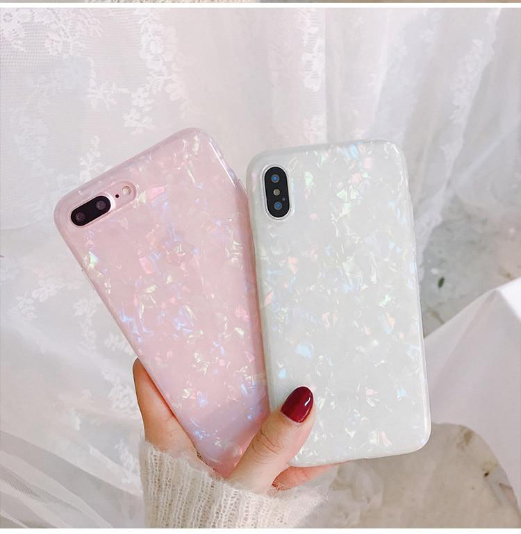 Gimfun Cute Love Heart Phone Case for Iphone Xr 7 Xs Max 6 8Plus Fritillaria Silicone