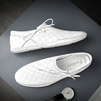 New Luxury Men Young Casual Shoes Genuine Leather Casual Men Shoes Flats Loafers Shoes For Men Brand Fashion Driving Moccasins qffaz men shoes luxury brand genuine leather casual driving oxfords shoes men loafers moccasins italian shoes for men flats