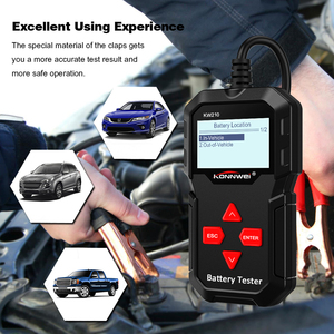 Image 5 - KONNWEI KW210 Car Battery Tester Analyzer For 12V Vehicle Auto Diagostic Charging Cranking Tools Charging System Regualr Flooded