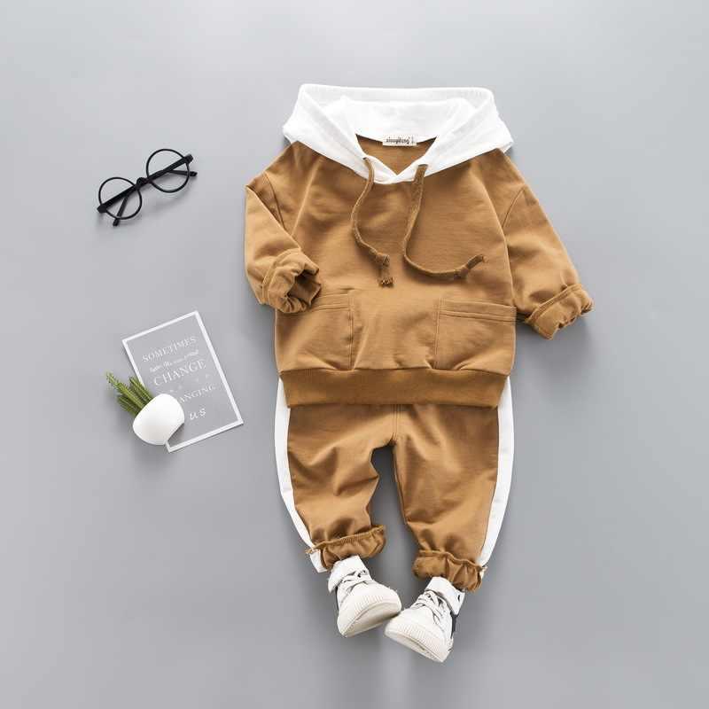 Kleinkinder Jungen Tragen Herbst/Winter kinder Tragen Mädchen Mädchen Mit Kapuze + Hosen 2 Stück kinder Kleidung Set jungen Kleidung Set