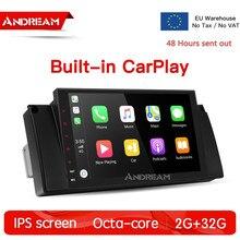 Octa-Core 8.1 2G+32G IPS screen Car Multimedia Navigation With CarPlay & Android Auto For BMW 5 Series E39 M5 E39 X5 E53 цена в Москве и Питере