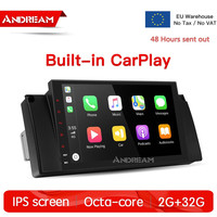 Octa Core 8.1 2G+32G IPS screen Car Multimedia Navigation With CarPlay & Android Auto For BMW 5 Series E39 M5 E39 X5 E53