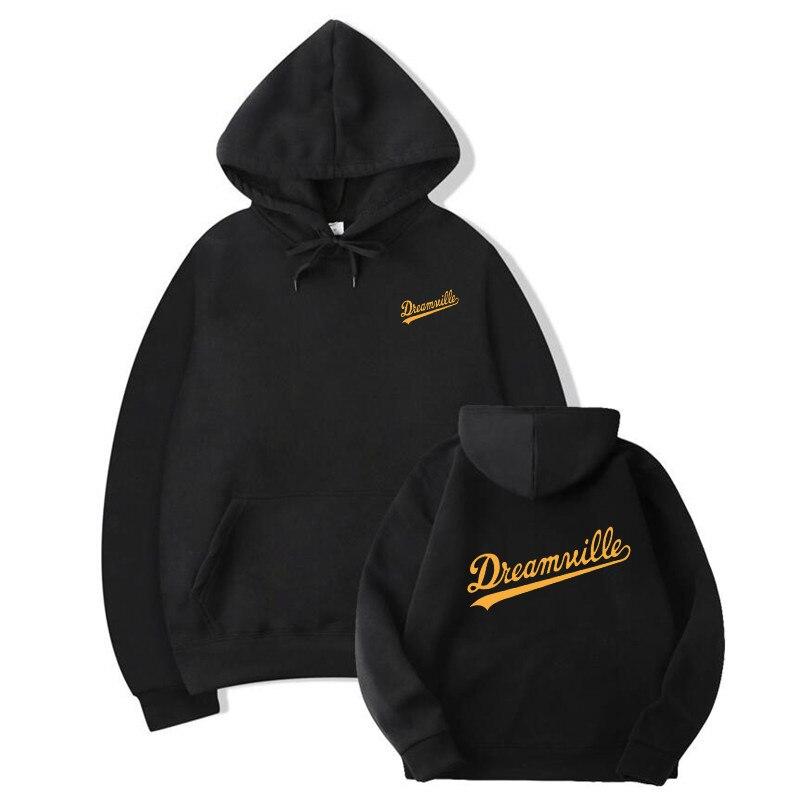 2019 Hoodies Novos Homens Hip Hop DREAMVILLE J Cole Logotipo Com Capuz Carta Presa J Cole Com Capuz Inverno Hoodies Do Velo Dos