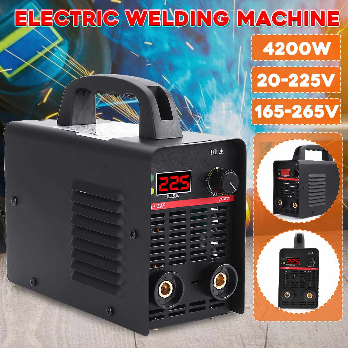 4200W Schweißer DC Inverter ARC MMA 225Amp LCD Display Schweißen Maschine Stick Tool Für Home Anfänger Leichte Effiziente