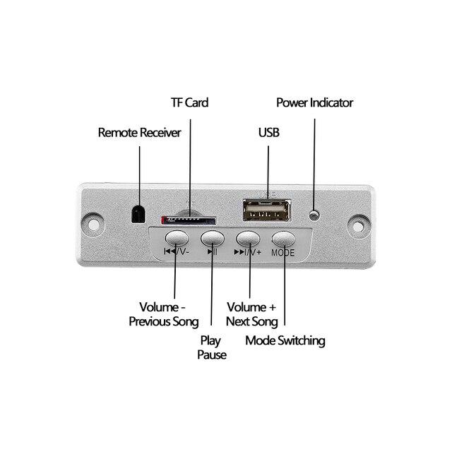 5V lecteur MP3 carte de décodeur sans perte 3 W amplificateur stéréo USB MP3 WAV décodage TF Module de Radio FM avec télécommande pour haut-parleur