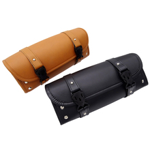 New Motorcycle Saddle Bags PU Leather Motorbike Leather Side Storage Tool Pouch Front Luggage Bag For Harley Davidson недорого